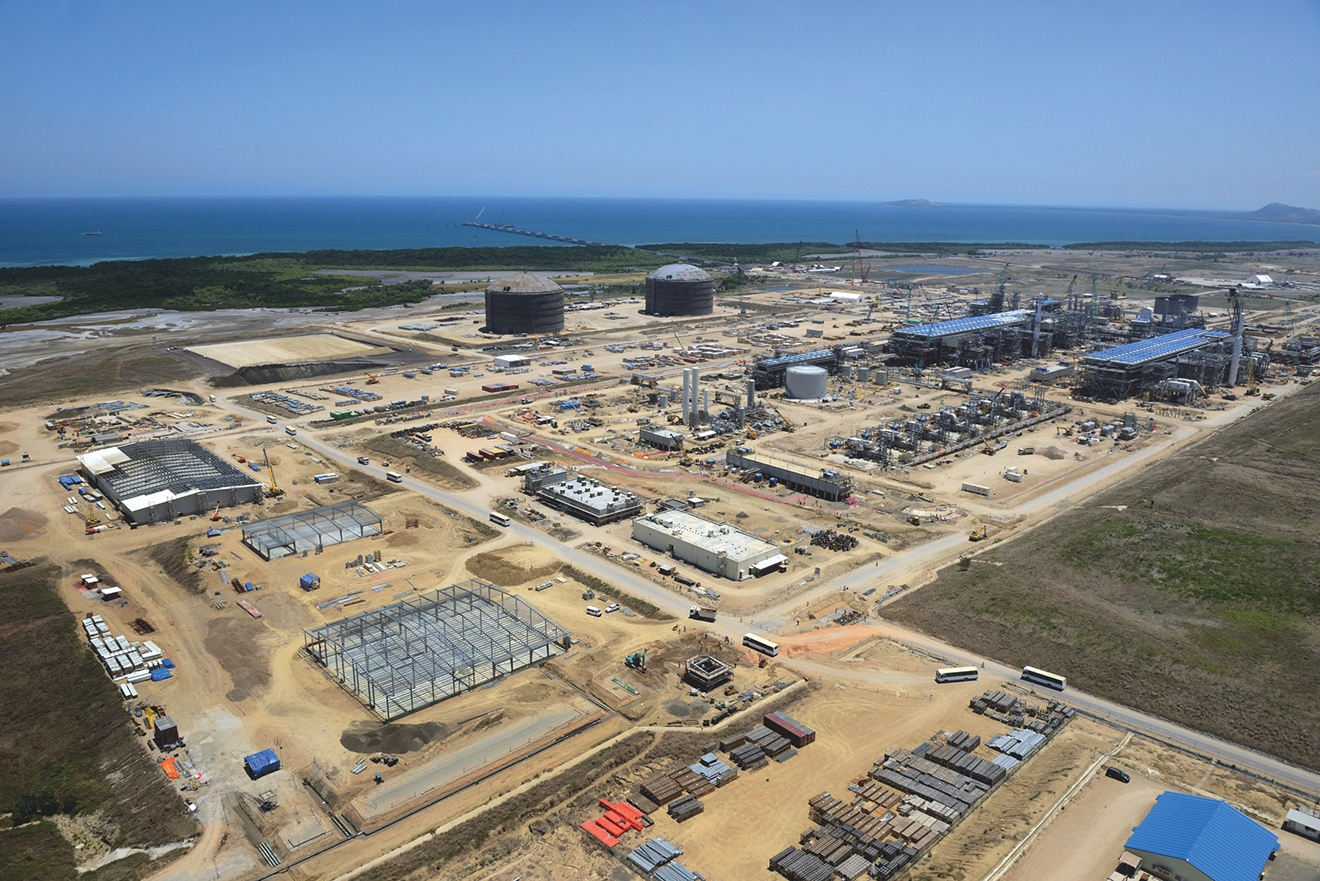 PNG LNG plant overview