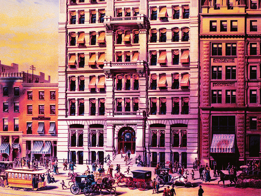 Drawing of the Standard Oil Trust  headquarters at 26 Broadway, New York City in 1885