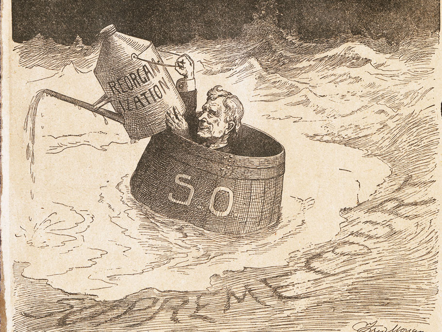 1911 Standard Oil break up editorial cartoon