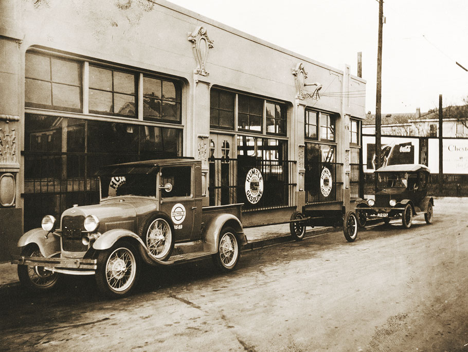 1919 Humble Oil trucks