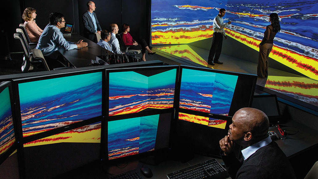 ExxonMobil researchers examine Full Wavefield Inversion data to capture greater value from our seismic surveys.