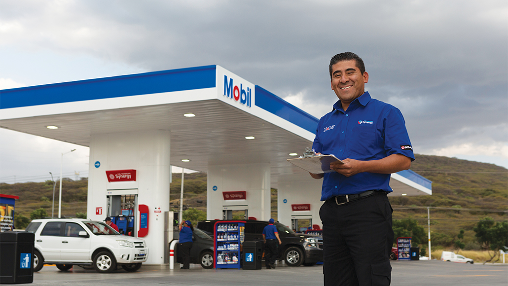 ExxonMobil retail employee in Mexico.