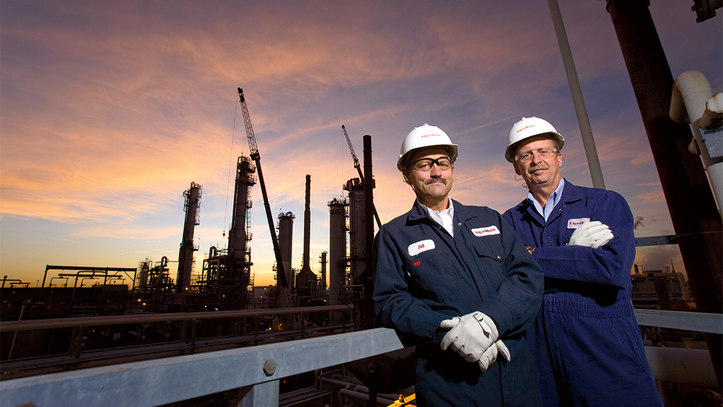 ExxonMobil employees at the Billings refinery facility.