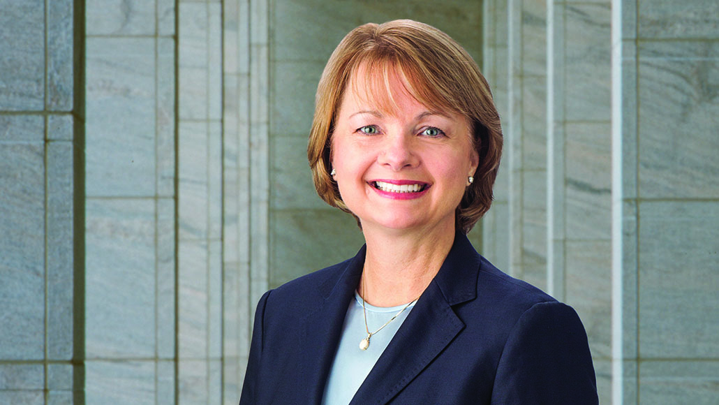 Professional portrait of Exxon Mobil Corporation Director Angela Braly.