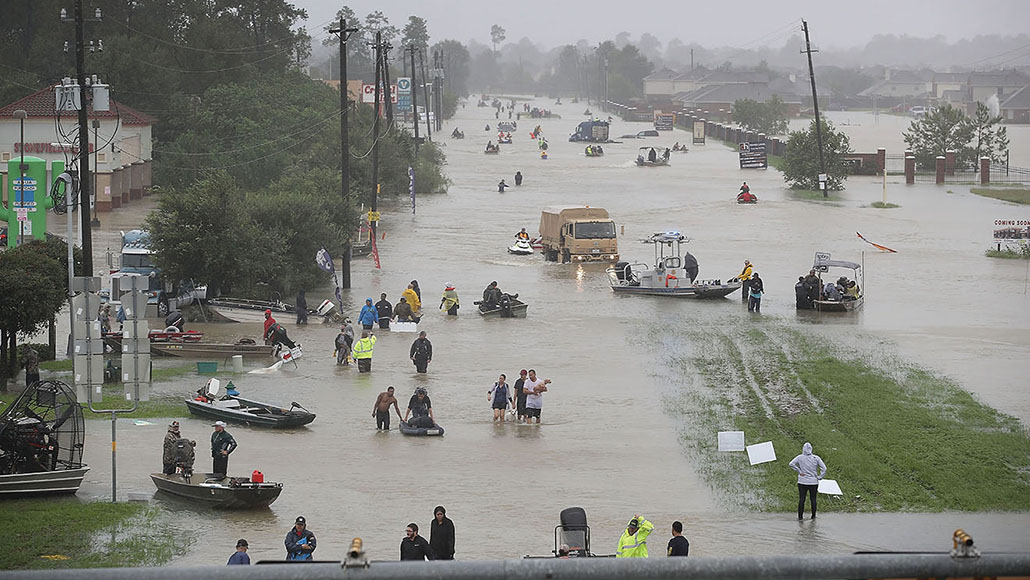 Hurricane Harvey relief efforts in Texas.
