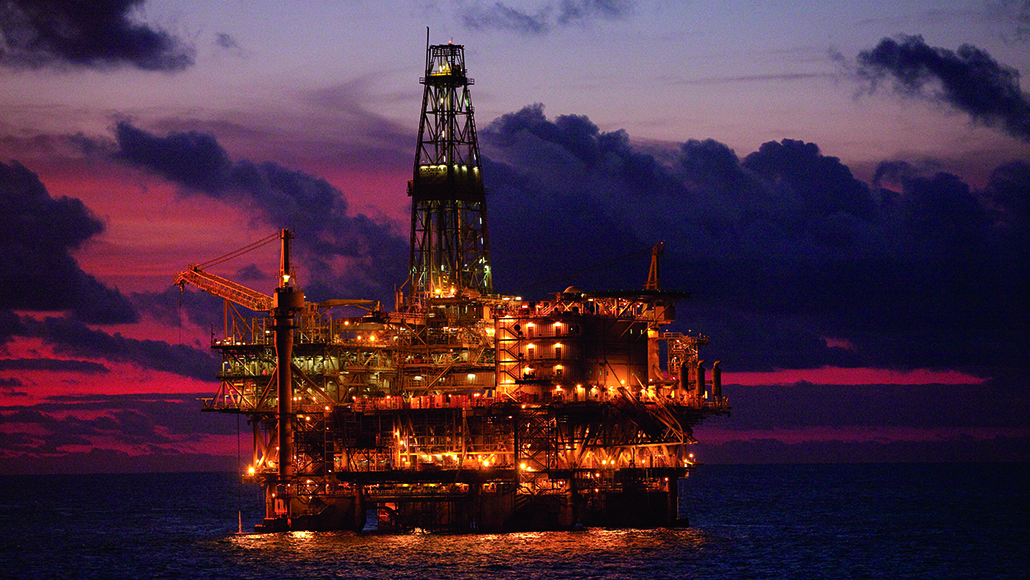An offshore rig in Angola